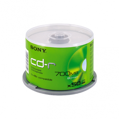 CD-R Sony 52x 700 MB шпиндел